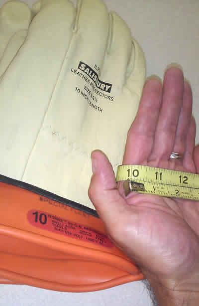 Properly measuring for insulating glove size by BCH Electrical Safety consulting