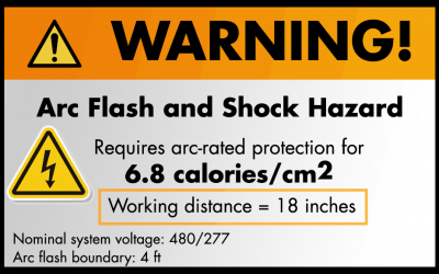 """Arc Flash Warning labels and """"Working Distance"""""""