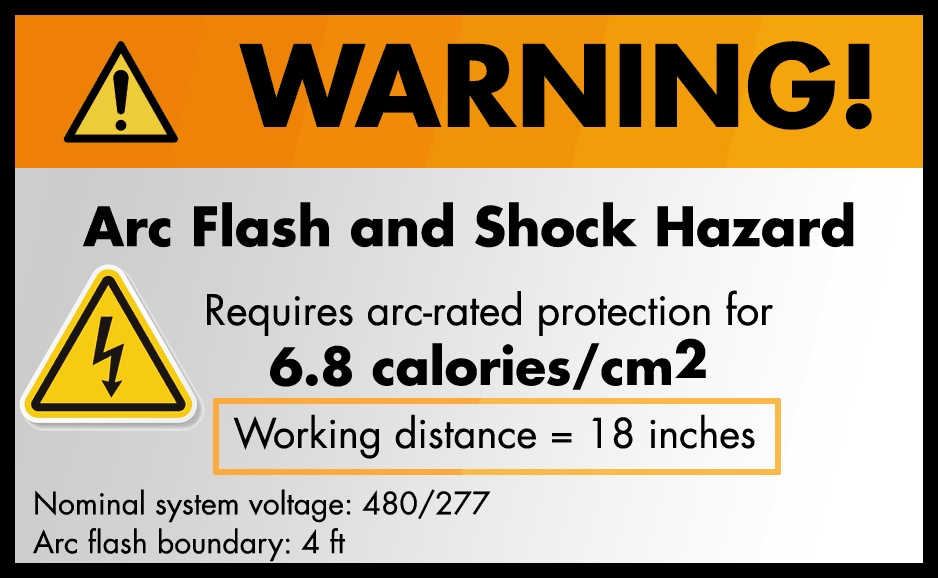 "Arc Flash Warning labels and ""Working Distance"""
